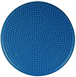 "Isokinetics Inc. Balance Disc - 14"" Round - Inflatable Stability Cushion for Therapy, Exercise, Core Training, Seats - Blue"