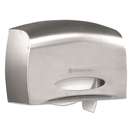 - Kimberly-Clark 09601 Coreless JRT Jr. Bath Tissue Dispenser EZ Load 6x9.8x14.3 Stainless Steel