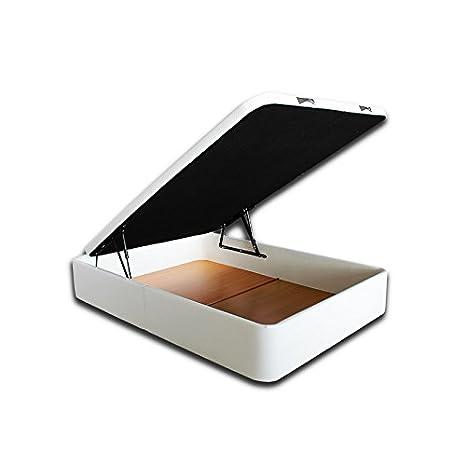 Ventadecolchones - Canapé Modelo Serena Gran Capacidad tapizado en Polipiel Blanco Medidas 150 x 200 cm: Amazon.es: Juguetes y juegos