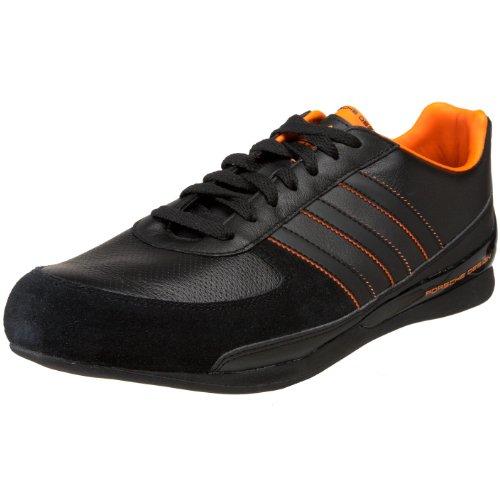 adidas Originals Men's Porsche Design TR 1 Retro Sneaker,Black/Intense Orange/Black,13 M US