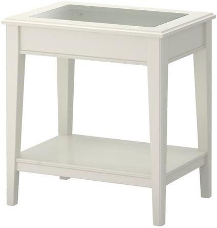Ikea LIATORP – Mesa Auxiliar, Blanco, Vidrio – 57 x 40 cm: Amazon ...