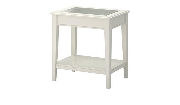 Ikea LIATORP - Mesa Auxiliar, Blanco, Vidrio - 57x40 cm: Amazon.es ...