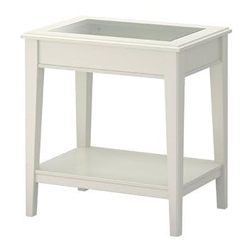 Ikea Liatorp Beistelltisch Weiß Glas 57 X 40 Cm Amazonde