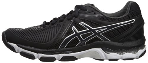 ASICS Women's Gel-Netburner Ballistic Volleyball Shoe, Black/Dark Grey/White, 9 Medium US by ASICS (Image #5)
