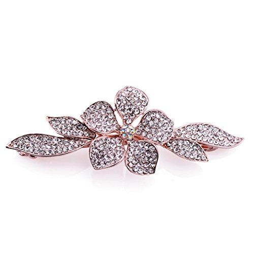 Price comparison product image IPINK New Fashion Girls Shiny Crystal Hairpins Rhinestone Elegant Flower Hair Barrette Clip