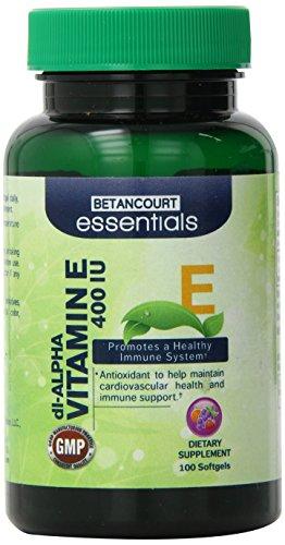 Betancourt Essentials Vitamin E Softgels Maintains, 100 Count