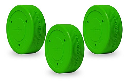 Smarthockey 6oz Smart Hockey Training Puck - Green 3-Pack