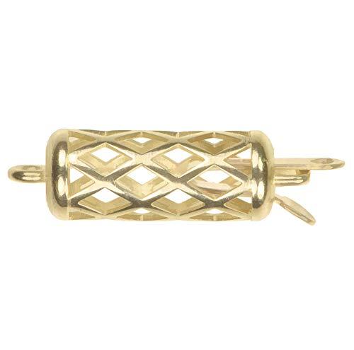 uGems 14K Gold Bezel Filigree Casted Clasp 5mm x ()