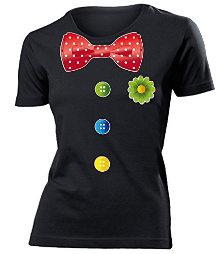 Karnevalskostüm - Faschingskostüm - Halloween - CLOWN KOSTÜM mujer camiseta Tamaño S to XXL varios colores Negro