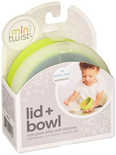 modern-twist 100% plastic free silicone waterproof, dishwasher safe, Snack Set, Green