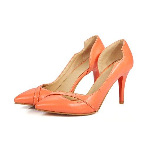 Lieve Tijd Vrouwen Puntschoen Stiletto Schoenen Schoenen Oranje