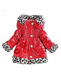 Girl Kid Leopard Winter Fleece Lining Coat Jacket Snowsuit Outerwear