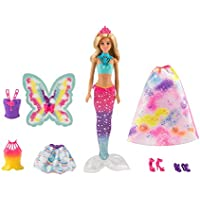 Barbie Dreamtopia Rainbow Cove Fairytale Dress Up Set,...