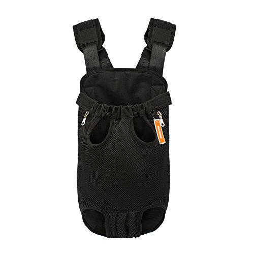 NICREW [Upgraded the Straps] Legs Out Front Dog Carrier, Hands-Free Adjustable Pet Backpack Carrier, Wide Straps with Shoulder Pads Pack Pet Carrier