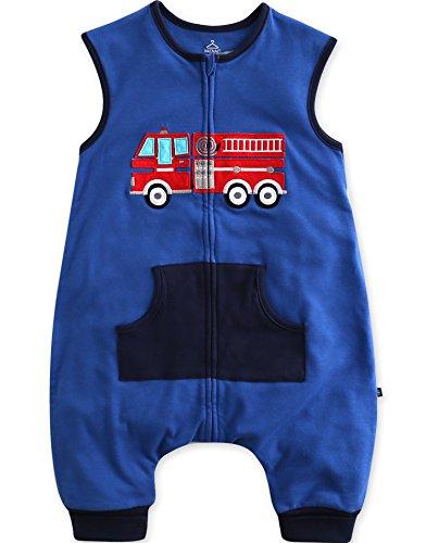 Vaenait Baby Toddler Kids 1-7Y Double-Layered Cotton Wearable Blanket Sleeper Sleep Peep L
