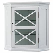 Bathroom Wall Storage,Adjustable Cabinet Rectangle,White