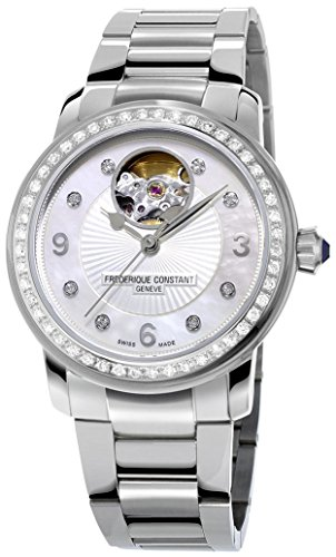 Frederique Constant Heart Beat Automatic Steel & Diamond Womens Watch FC-310HBAD2PD6B
