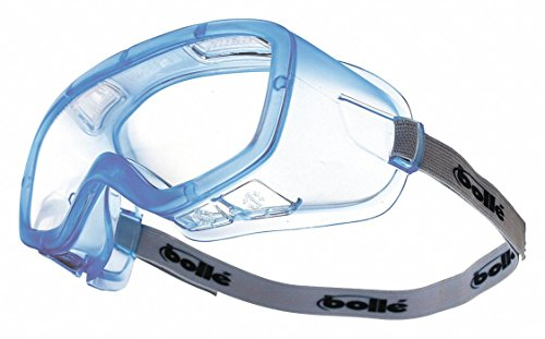 Bolle Safety Clear OTG Goggles, Anti-Fog, Scratch-Resistant (Goggles Safety Encon)