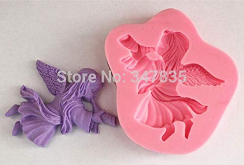 1 piece Angel blowing horn Silicone Cake Chocolate Soap Pudding Jelly Candy Ice Cookie Biscuit Mold Mould Pan Bakeware Wholesales ()