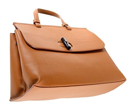 Tasche Leder Handbag Henkeltasche Handtasche Cognac Braun Sand Beige Champagner Camel Orange
