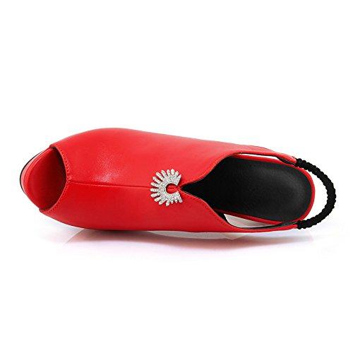 microfibra sandali Black di Nero Stiletto Primavera Rosso per Estate della Bianco pompa Scarpe nozze strass base festa Sera Heel donna ZHZNVX la Eq1p8E