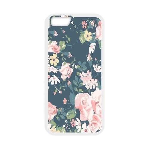 FDXGW477 iPhone 6 Plus 5.5 Inch Cell Phone Case-white_Retro Flower (2)