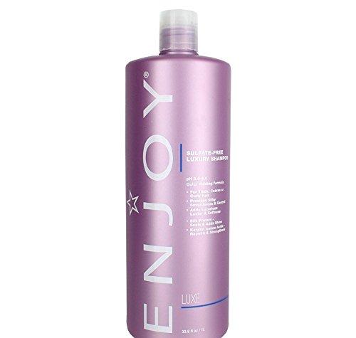 ENJOY Sulfate-Free Luxury Shampoo (33.8 OZ) - Strengthening, Smoothing and Volumizing Shampoo