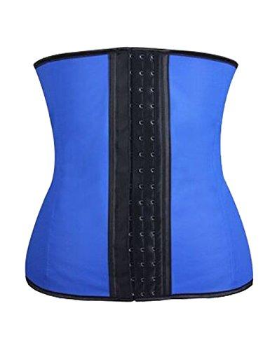 ZAMME mujers Corsé for Cintura Formacióncaucho mujer Shapewear Cincher Azul