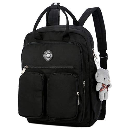 certainPL Waterproof Backpack Large Capacity Multi-Pocket Backpack for School Travel, Perfect for Women Girls (Black)