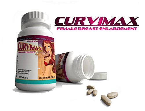 CURVIMAX Female Breast Enhancement and Enlargement Pills, 60 Tablets by MARINANATURALS