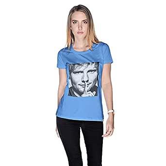 Creo Ed Sheeran T-Shirt For Women - L, Blue