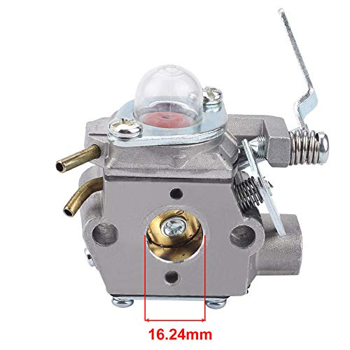 HONEYRAIN 530071634 Carburetor for Weed Eater Poulan PE550 GE21 PP135 B164 Gas Trimmer Edger Walbro WT-630 Carb Replace Hus 530069654 with Fuel Filter Fuel Line Spark Plug Primer Bulb