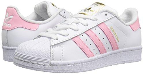 innovative design 9b64f 82b27 adidas Originals Boys  Superstar Foundation J Sneaker, White Clear Light  Pink Metallic
