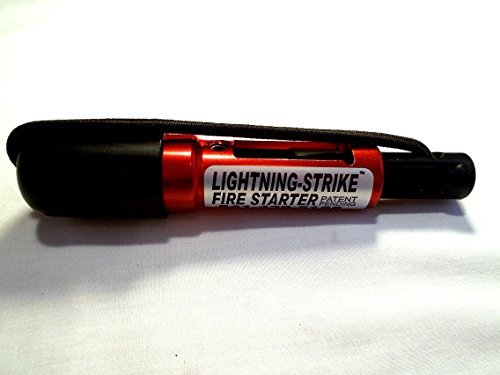 Lightning Strike Darrell Holland's Red Mini Fire Starter Survival Kit.