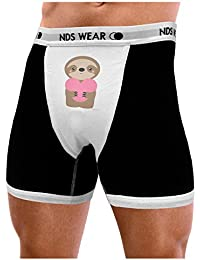 tooloud cute valentine sloth holding heart mens nds wear boxer brief underwear