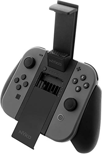 Nyko Clip Grip Power - Joy-Con Grip with Cell Phone Mount, rechargeable battery pack, game storage and SD Card holder for Nintendo Switch