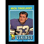 1976 Topps #441 Mick Tingelhoff Minnesota Vikings Football Card Verzamelingen