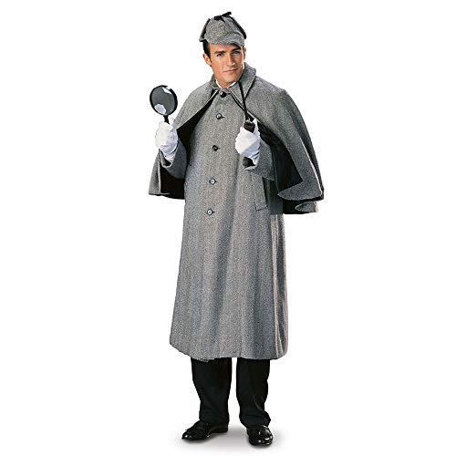 Rubie's Costume Sherlock Holmes Cape Coat Costume, Multicolor, Large