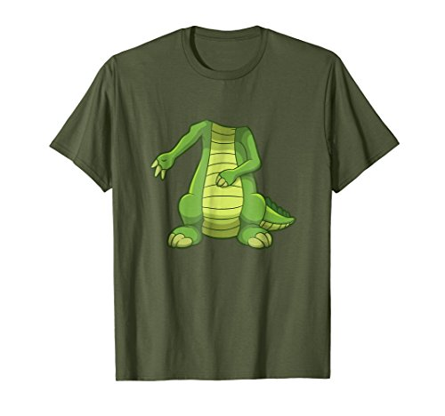 Mens Easy Crocodile Halloween Costume Funny Cute Gift T-shirt Large Olive