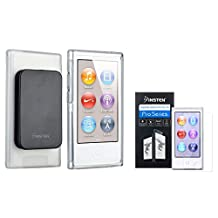 Insten Clear TPU Rubber Case & Belt Clip + Clear Reusable Screen Protector compatible with Apple iPod nano 7th Generation