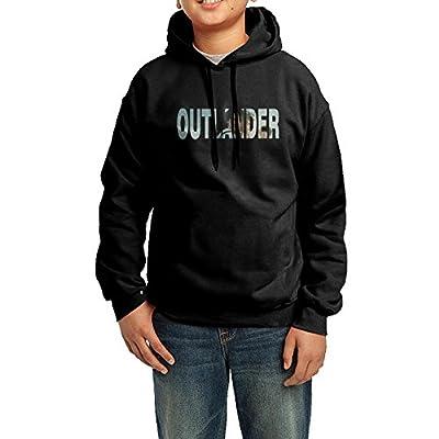 Youth's Outlander Cast Logo Hoodies Black