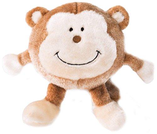 ZippyPaws Brainey Squeaky Plush Dog Toy, Monkey