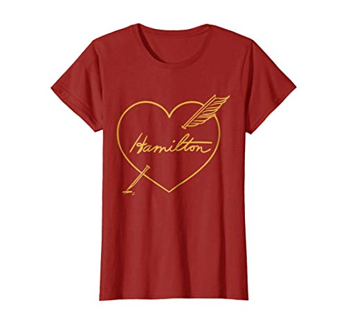 Hamilton Love Shirt | Quill Pen Through Heart