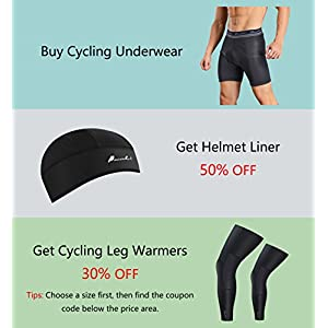 Przewalski Men's 3D Padded Cycling Underwear, Bike Liner Shorts - Excellent Breathability, Quick Dry(Large, Black)