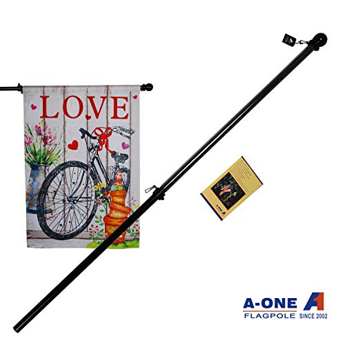 """A-one 56"""" Tangle Free Aluminum Flagpole for Grommet or House"""