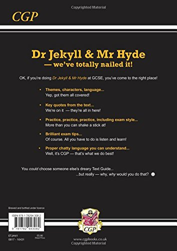 Grade 9 1 Gcse English Text Guide Dr Jekyll And Mr Hyde Cgp Gcse