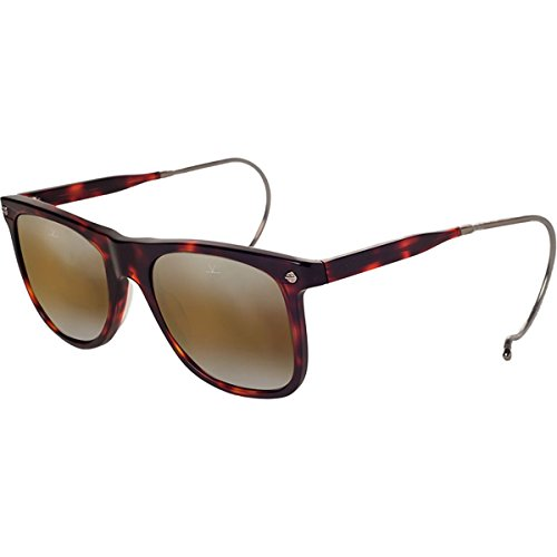 Vuarnet VL151000022136 Hooks Cable Temple Sunglasses Dark Tortoise Frame Brownlynx Mirror Glass - Cable Glasses Temple