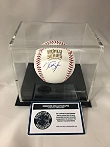 Kris Bryant Autographed Signed Chicago Cubs WORLD SERIES MLB Baseball With Display Case Included COA & Hologram