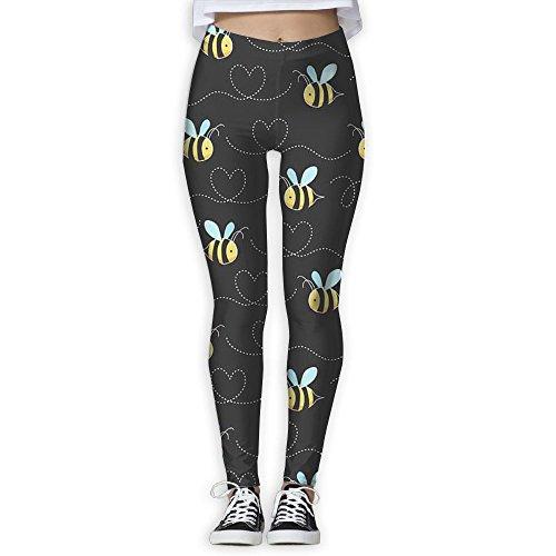 Yoga Pants,Women's Power Cartoon Bee Yoga Pants Tummy Control Workout Yoga Pants Leggings ()