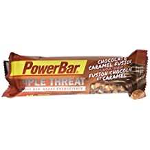 PowerBar Triple Threat Protein Bar, Chocolate Caramel, 53g Bar, 15-Pack